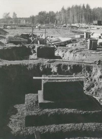 Фундамент главного корпуса
